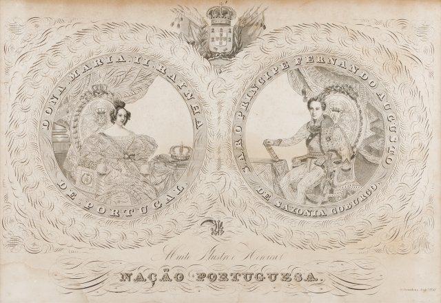 A double portrait of queen D. Maria II and king D. Fernando II