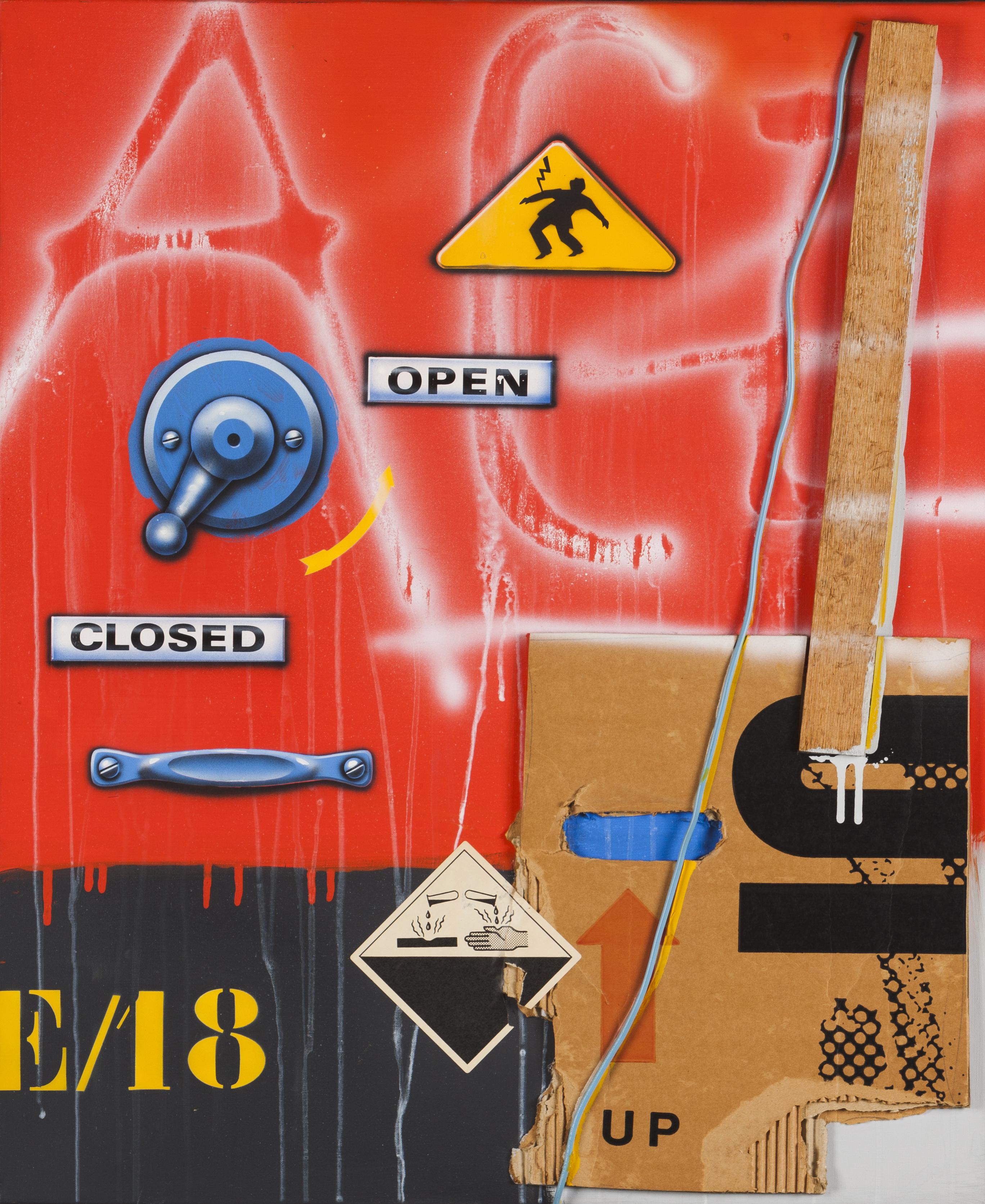 "Auction 94] Lot 58 - ""High Voltage/Open-Closed"" (E/18) - VERITAS Art  Auctioneers"