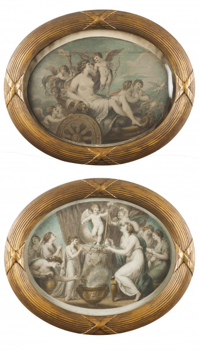 """The triumph of Beauty and of Love"" and ""Sacrifice to Cupid"""