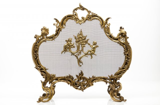 A louis XV style fireplace, Charles Casier