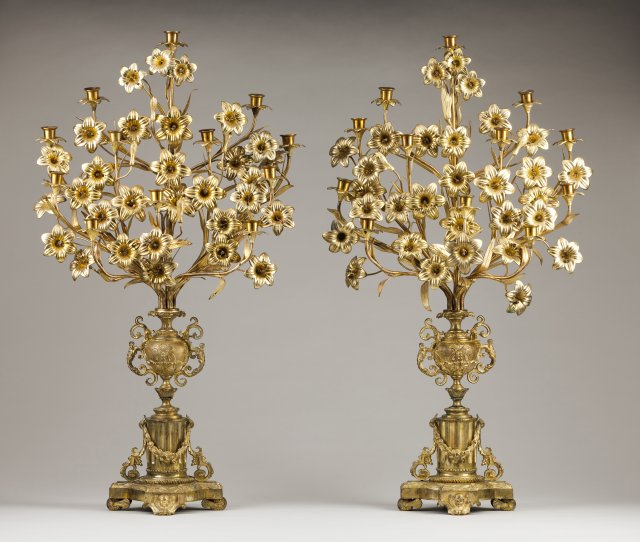 A pair of palms/twelve branch candelabra