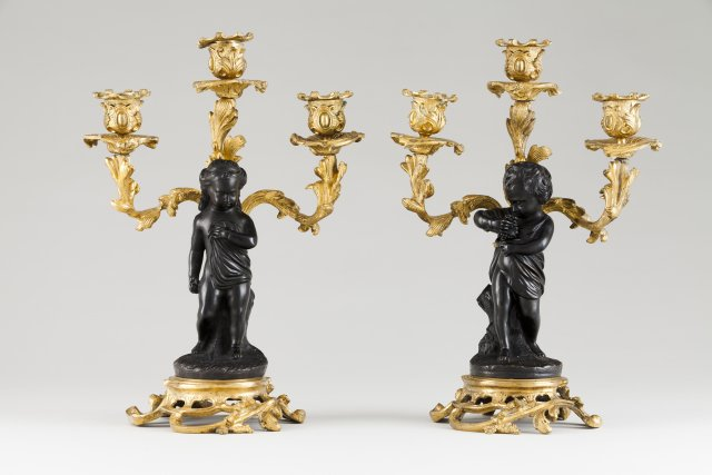 A pair of Louis XV style candelabra