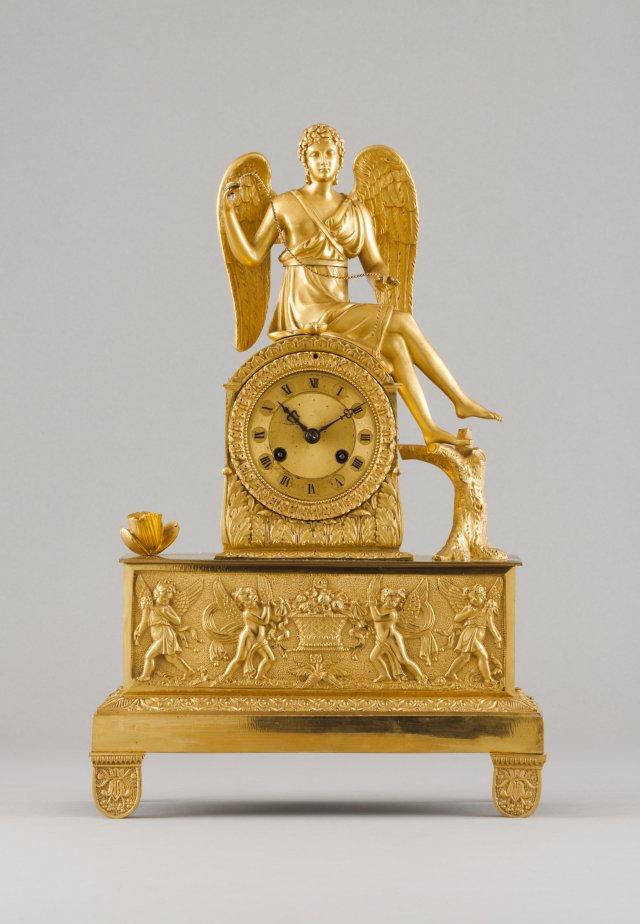 A Napoleon III table clock
