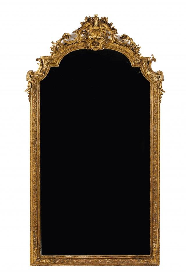 A Louis XV style mirror
