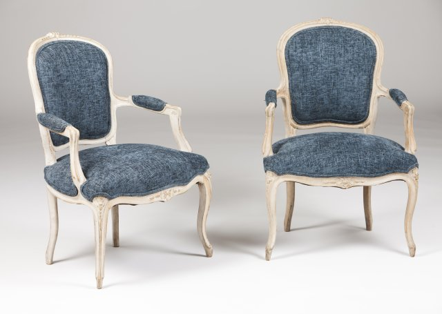 A pair of Louis XV fauteuils