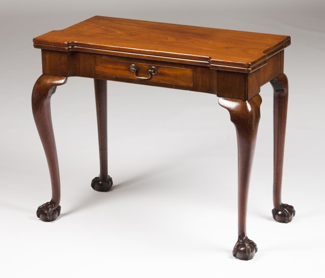 A Chippendale card table