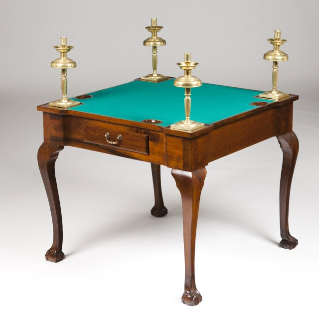 A George III style card table