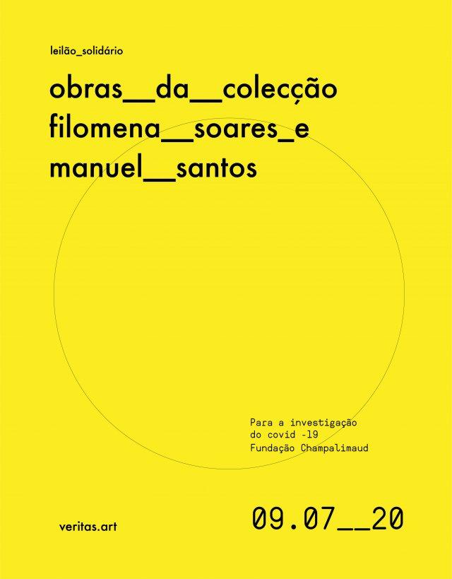 Leilão Solidário Arte Contemporânea para a investigação do Covid-19 (Fundação Champalimaud) Fundos revertem na totalidade para a causa
