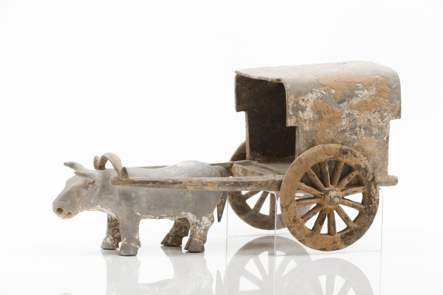 Model of a cart and ox