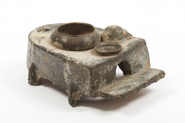 Model of a cooking stove