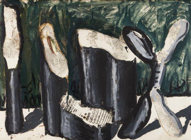 Untitled (Fußabdrücke), 1976