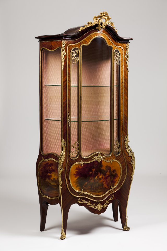 A Louis XV style display cabinet