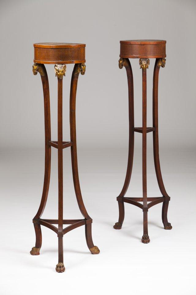 A pair of neoclassical columns