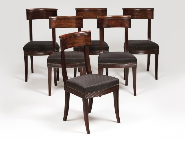 A set of six Directoire chairs