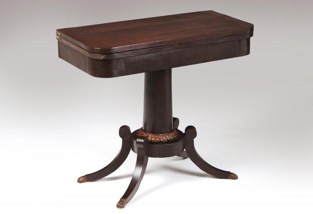An Empire style card table