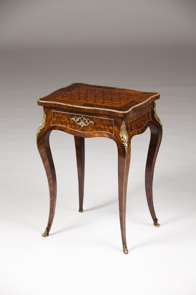 A Napoleon III sewing table