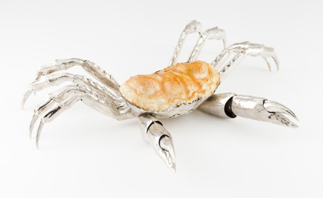 A large spider crab sculpture