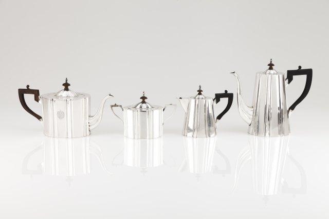 A retro tea and coffee set