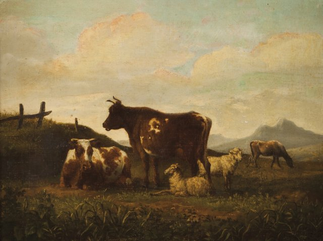 A Landscape with cattle