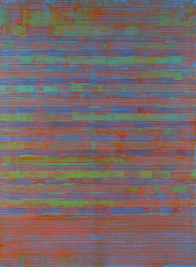 Untitled (azul, laranja e verde)