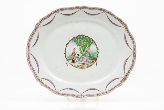 A scalloped tray
