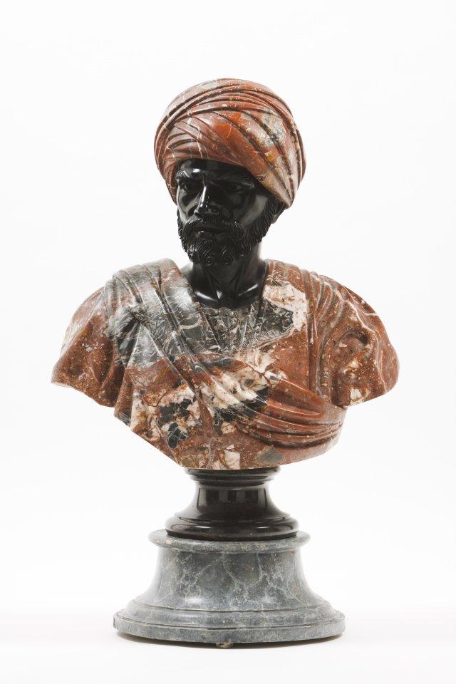 A bust of an Arab man