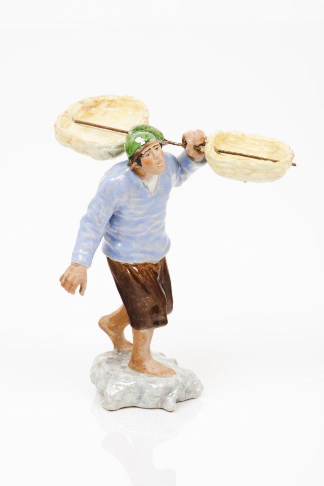 Pescador com cesta