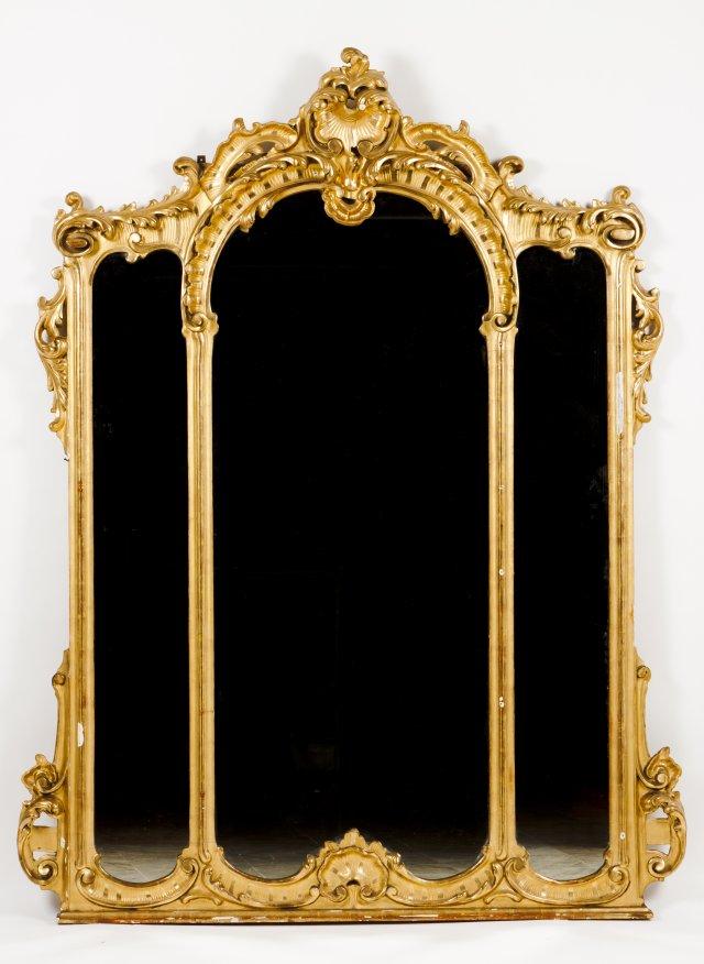 Grande espelho de parede estilo Luis XV
