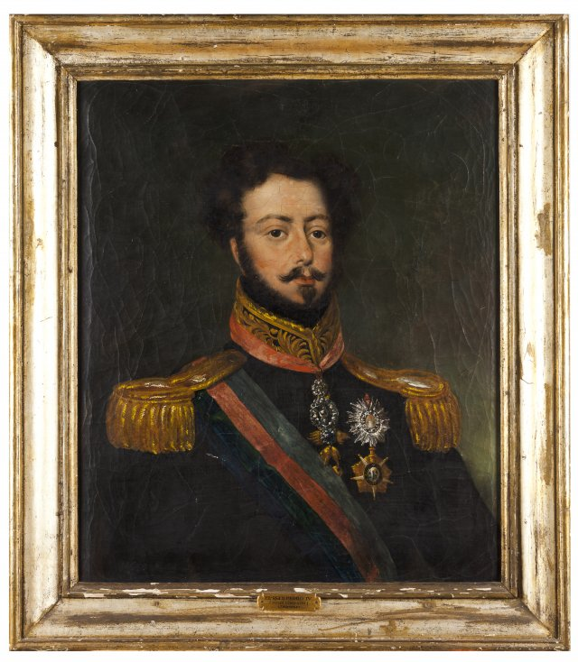 A portrait of King Pedro IV of Portugal