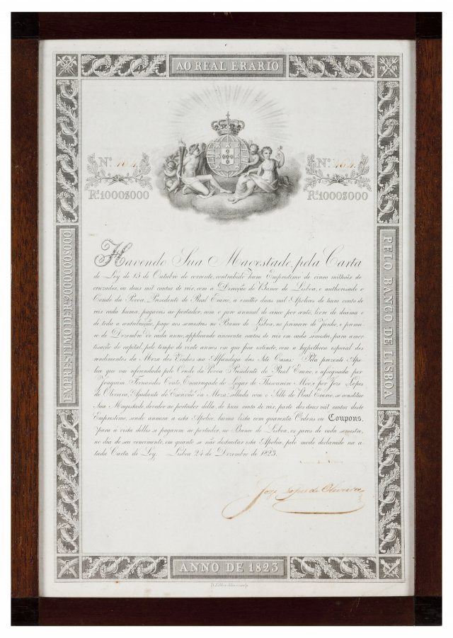 A loan note by the Banco de Lisboa