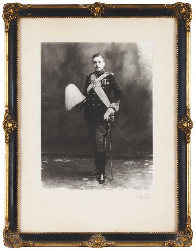 A portrait of King Manuel II
