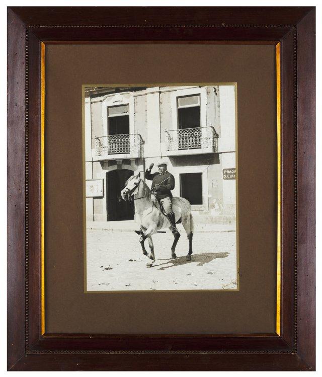 King Carlos I on horseback at D.Luís Square, Cascais