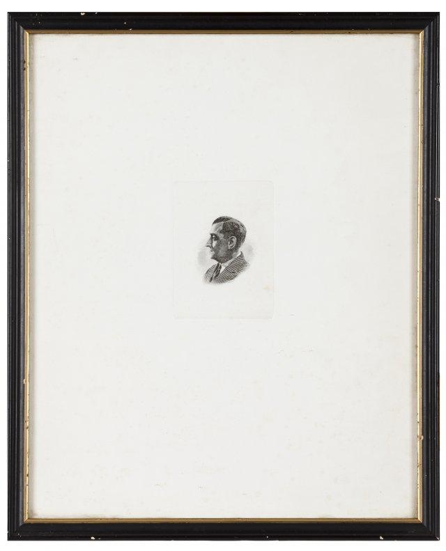 A profile portrait of António de Oliveira Salazar