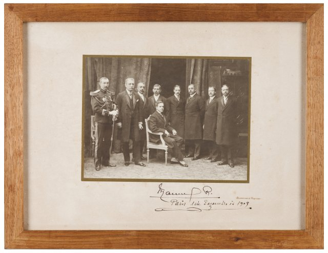 King Manuel II of Portugal with some of his councillors