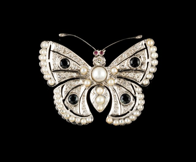 "A ""butterfly"" brooch"