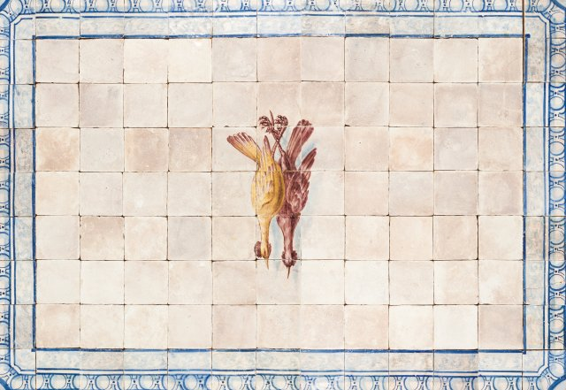 A late 18th, early 19th century tile panel